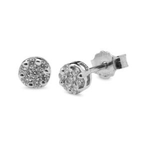 Pendiente Roseton Diamantes 0,25 Quilates