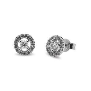 Pendientes con diamantes talla brillante 0,33 quilates