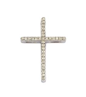 Colgantes y Collares Cruz de oro blanco y diamantes