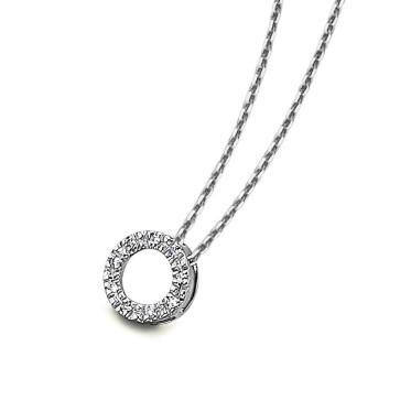 Colgantes y Collares Gargantilla circulo diamantes oro blanco