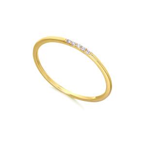 Anillo Oro Amarillo y Diamantes Black White