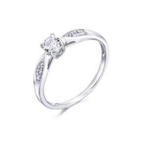 Anillo Oro Blanco y diamante 0,21 Ctes