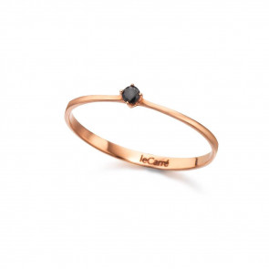 Anillo Oro Rosa Diamante Black