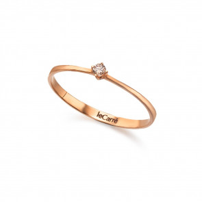 Anillo Oro Rosa Diamante Brown