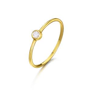 Anillo Oro Solitario Diamante