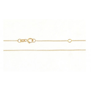 Cadena Oro Amarillo 18 Qts 42 cm