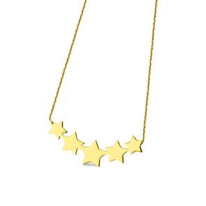 Cadenita + estrellas de oro