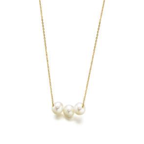 Cadenita Oro con Tres Perlas