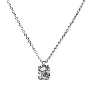 Colgante oro blanco con diamante de 0.10 ctes