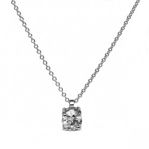 Colgante oro blanco con diamante de 0.19 ctes Certificada IGI