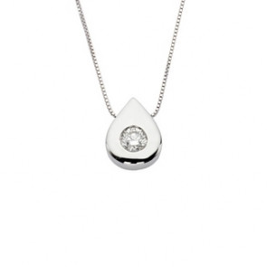 Colgante de oro blanco con diamante
