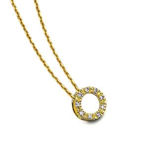 Gargantilla circulo diamantes oro
