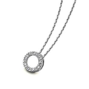 Gargantilla circulo diamantes oro blanco