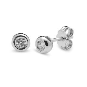 Pendientes Boton Diamantes 0,10 Qtes