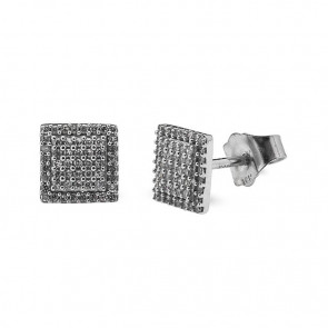 Pendientes oro blanco y diamantes 0,10 quilates