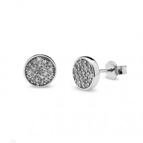 Pendientes oro blanco y diamantes 0,19 quilates
