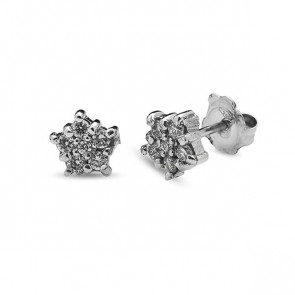 Pendientes oro blanco y diamantes 0.24 quilates