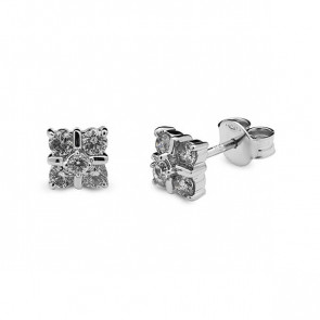 Pendientes oro blanco y diamantes 0,50 quilates