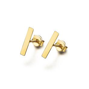 Pendientes Oro Chapita Rectangular