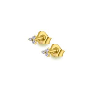 Pendientes Trinity Oro Diamantes